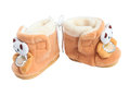 Two children's soft boot with bears Royalty Free Stock Photo