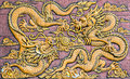 Two Chinese Style Golden Drago...