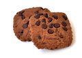 Two chocolate cookies Royalty Free Stock Photos