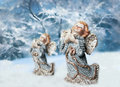Two Christmas angels Royalty Free Stock Photography