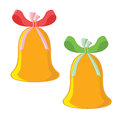 Two Christmas bells Royalty Free Stock Photo