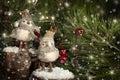 Two Christmas Birds