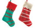 Two Christmas boots Royalty Free Stock Photo