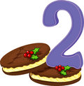 Two christmas cookies illustration of the on a white background Stock Images