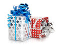 Two christmas gift boxes Royalty Free Stock Photo