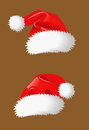 Two christmas hats Stock Images