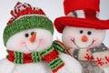 Two christmas snowmen Royalty Free Stock Image