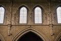 Two church windows Royalty Free Stock Photo