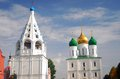 Two churches in a sunny day kremlin kolomna moscow region russia Royalty Free Stock Images
