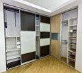 Two closets with sliding doors Royalty Free Stock Photo