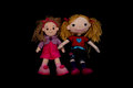 Two cloth dolls Royalty Free Stock Photo