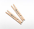 Two clothes pins vintage wooden Royalty Free Stock Photos