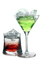 Two cocktails in ice Stock Photography