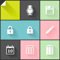 Two colored flat icons white and grey for web and mobile applications Stock Photo