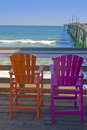 Two colorful chairs Stock Image