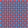 Two colors weave pattern texture Royalty Free Stock Image