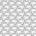 White on silver turtle geometric pattern seamless repeat background