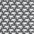 White on grey turtle geometric pattern seamless repeat background