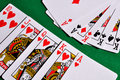 Two combinations of playing cards