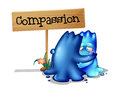 Two compassionate monsters illustration of the on a white background Royalty Free Stock Photos