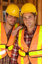 Two Construction Workers at the job Stock Photo