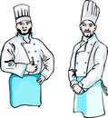 Two cooks Royalty Free Stock Images