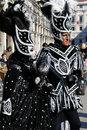 Two costumed people at carnival. Royalty Free Stock Photo
