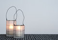 Two cozy lanterns Stock Images