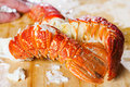 Two crayfish tails. Royalty Free Stock Photo