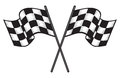 two crossed checkered flags Royalty Free Stock Photo