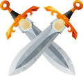Two Crossed Swords Royalty Free Stock Photo