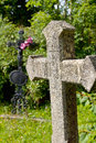 Two crosses on a meadow Royalty Free Stock Photo
