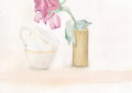 Two cups and a Rose