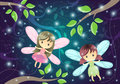 Two Cute Little Fairies Royalty Free Stock Photo