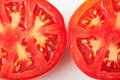Two cutted tomatoes Stock Image