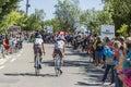 Two Cyclists on Mont Ventoux - Tour de France 2016 Royalty Free Stock Photo