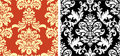 Two Damask Patterns Stock Image