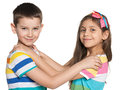 Two dancing kids Royalty Free Stock Photo