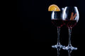 Two decorated glasses of wine Royalty Free Stock Photo