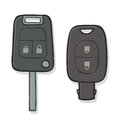 Two different car keys Royalty Free Stock Photo