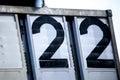 Two digit numbers twenty in black Royalty Free Stock Image