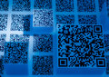 Two dimension code blue science and technology wallpaper background is Royalty Free Stock Photos