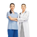 Two doctors in uniform healthcare and medical concept Stock Photography