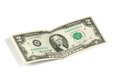 Two dollar bill issued in to commemorate the bicentenary u s Royalty Free Stock Photo