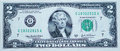 Two-dollar bill Royalty Free Stock Photo