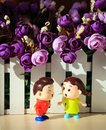 Two dolls in love Royalty Free Stock Photo
