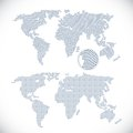 Two dotted world maps vector illustration Stock Images