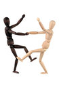 Two dummy dance Stock Photos
