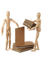 Two dummy stack cardboard Royalty Free Stock Photo