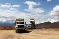 Two dump truck
